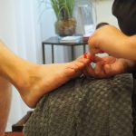 Pedicure treatment at Gresham House Wellness
