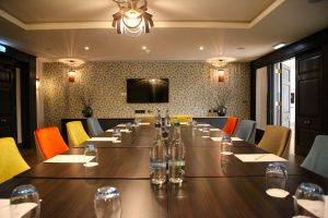 Shot of a meeting room at Gonville Hotel