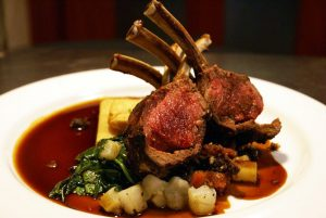Rack of lamb at Gonville Hotel