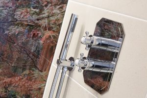 Bathroom taps detail shot in the Sequoia room