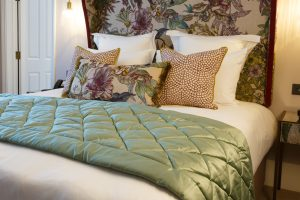 Detail shot of the Hypnos King-size Bed With Elite Cashmere Mattress in the Sequoia room