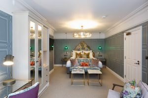 Shot of a feature bedroom in Gresham House