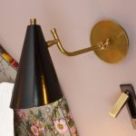 Detail shot of bedside lamp in the Papava room