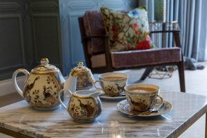 Tea service in the Lavendula feature room