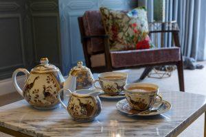 Tea service in the Lavendula feature room