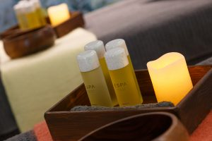 Shot of ESPA products in use at the spa