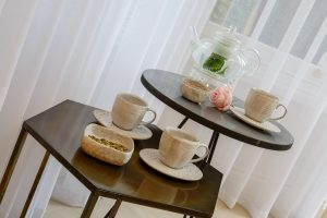 Tea and coffee in the reception of Gresham House Wellness