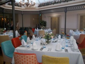 The Atrium Brasserie, arranged for a wedding reception