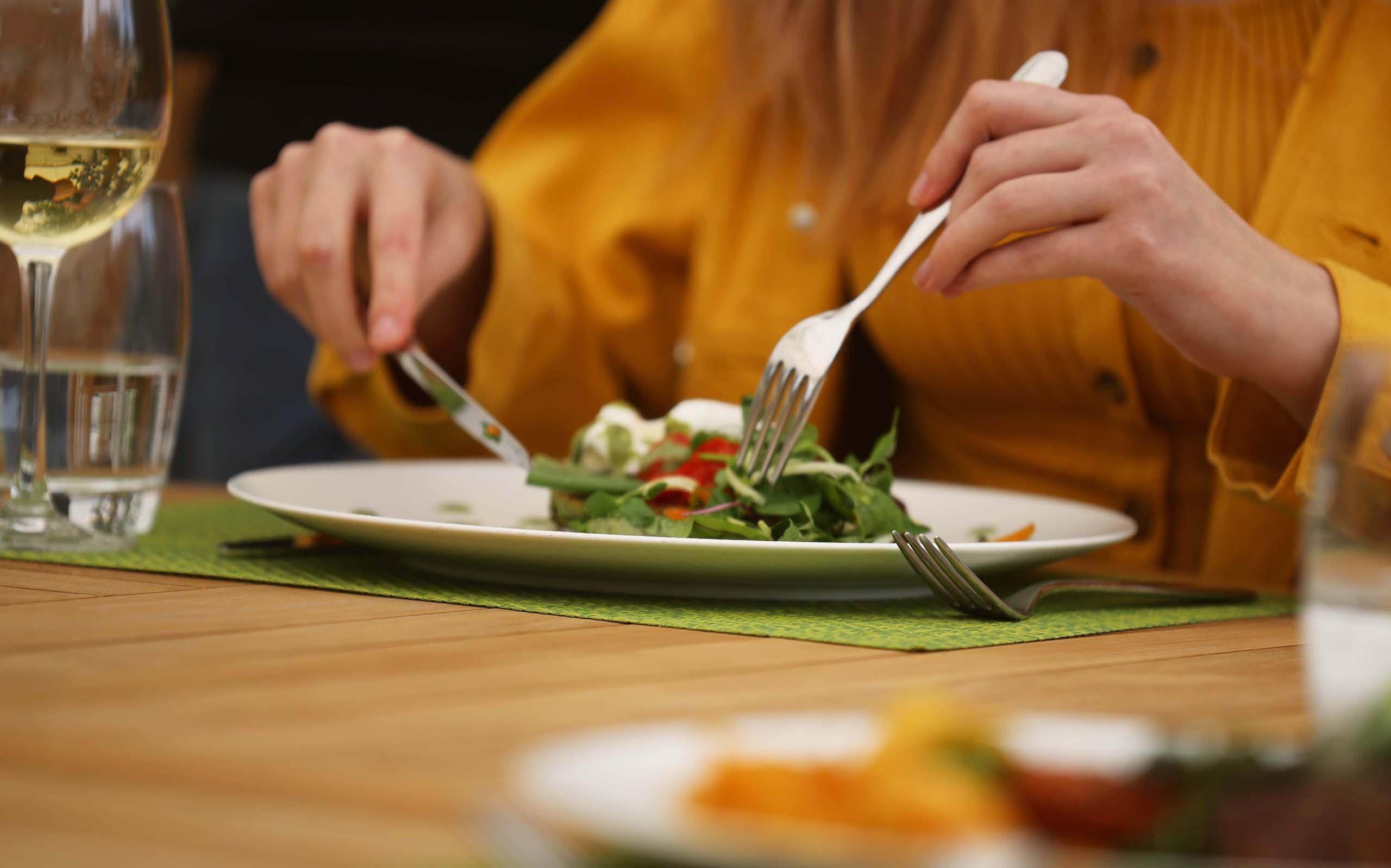 Lunch in the garden restaurant